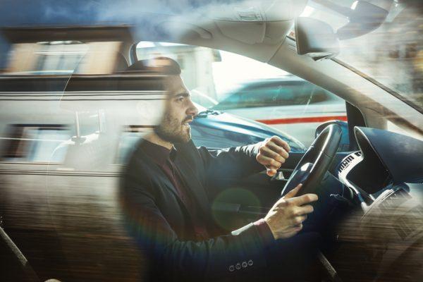Speeding car accident risk