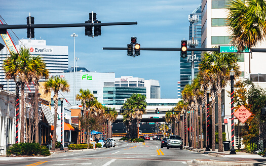 an intersection in Jacksonville, FL