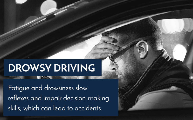 Drowsy Driving graphic