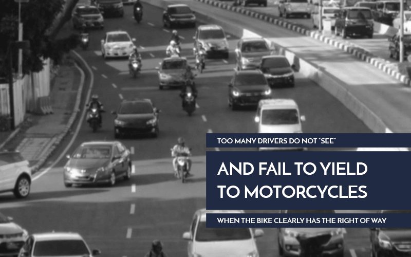 Motorcycle Accidents Fail To Yield graphic