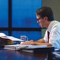 Attorney Michael Pajcic working