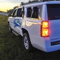Vehicle damage to SUV