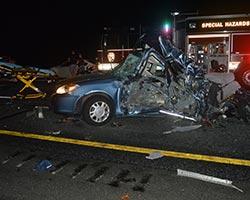 Historic Verdict Truck Accident scene